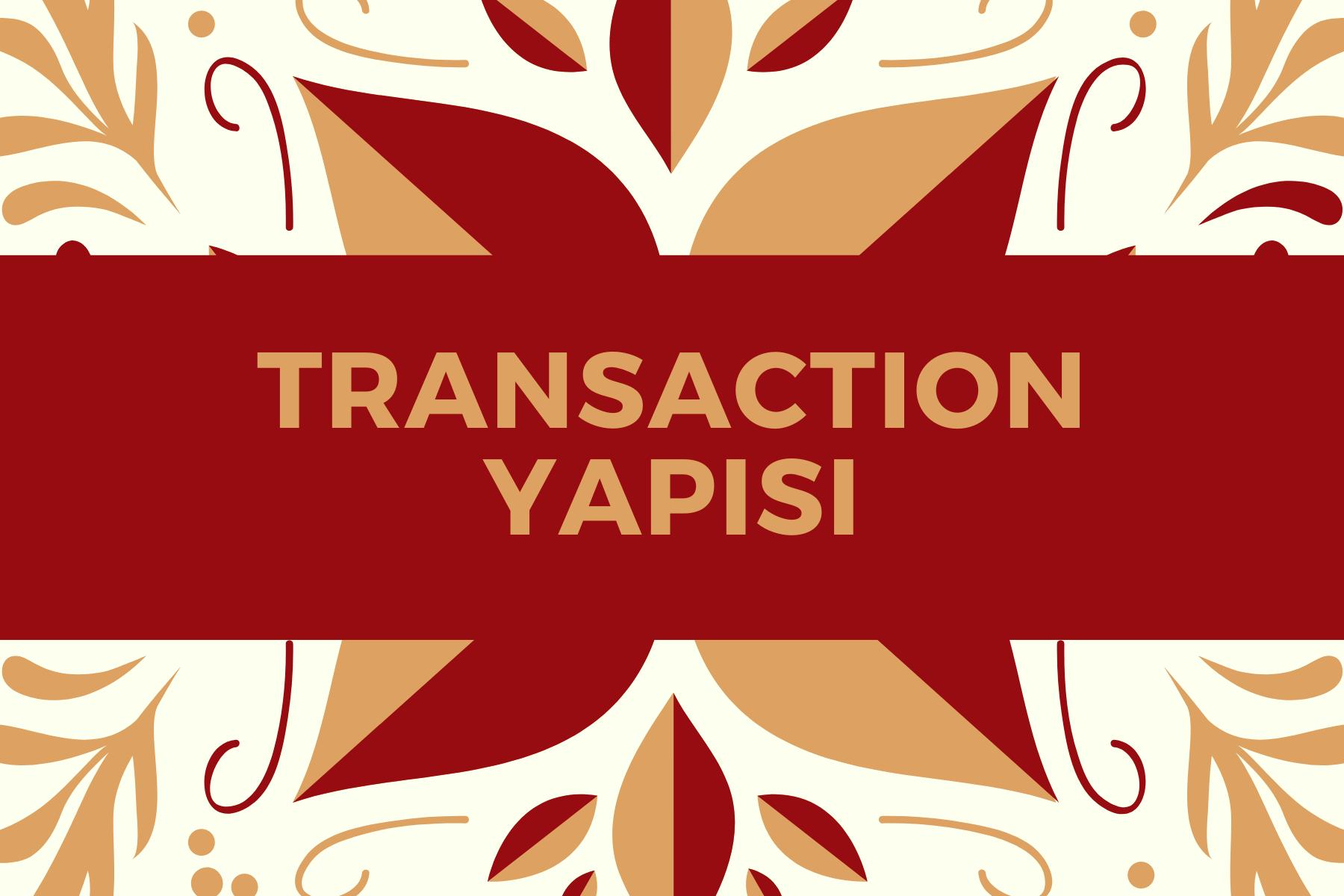 Transaction Yapısı