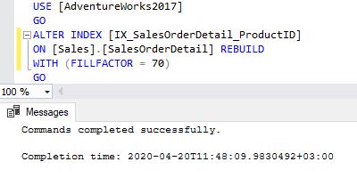 Fill factor rebuild