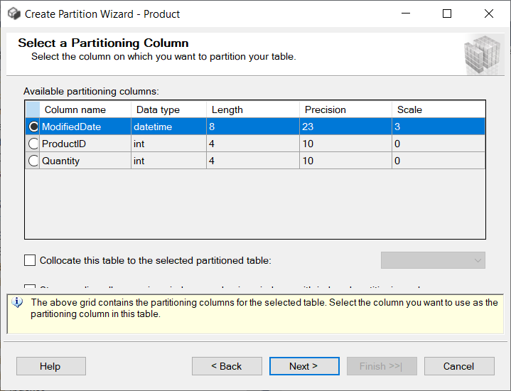Create Partition Wizard
