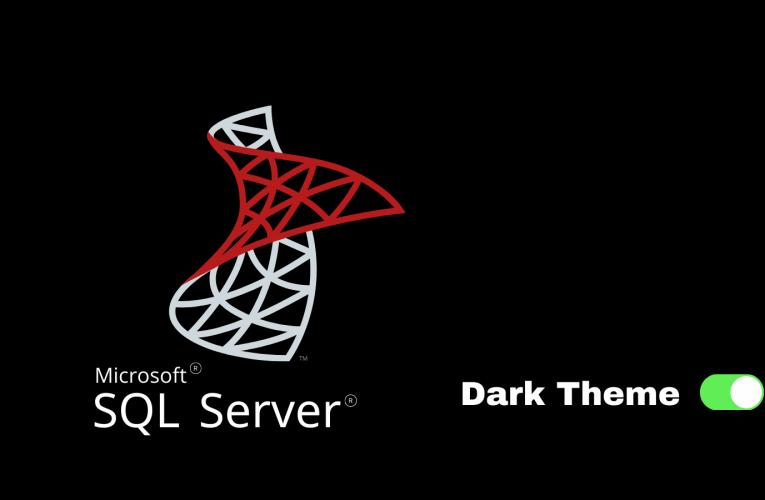 SSMS Dark Theme Aktifleştirme